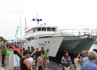 The 115-foot Phatsara, presented by Northrop and Johnson, was the largest yacht in the 2013 Ocean Marina Pattaya Boat Show.