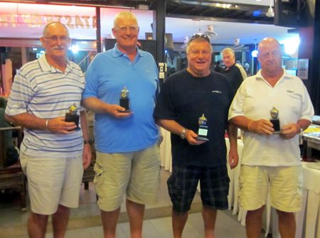 Division 2 winners: Mike Hill, Don Everett, John Wood and Terry Hodgkiss.