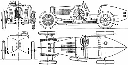 DIY Bugatti Type 35.