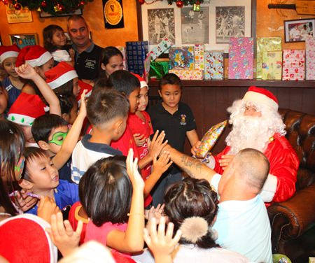 Santa's corner is popular with all the children.