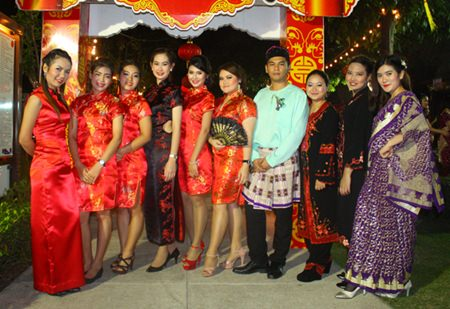 Amari Orchid Pattaya staff dress in Mystery of Asia Chinese and Indian outfits for the Countdown to 2014 party.