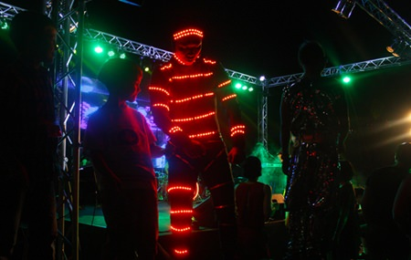 The Electric Light Man busts some moves at the Hard Rock Pattaya.