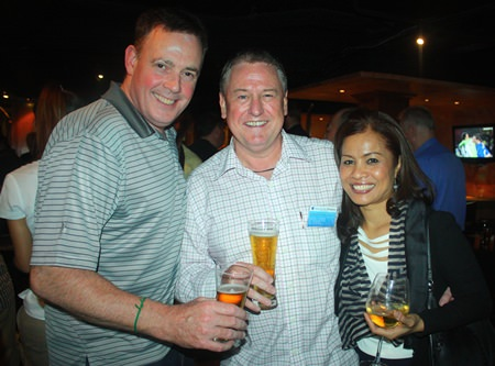 Steve Murphy, John Howarth, MD of Asia Pacific Pensions and Jintana Phenix, Membership and Publication Coordinator of BCCT.