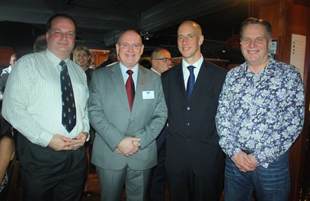 (L to R) Greg Watkins, Executive Director of the BCCT, Graham Macdonald MBE, Managing Director of MBMG Group, H.E. Mark Kent, British Ambassador to Thailand, and Simon Matthews, Country Manager Thailand, Manpower Group.