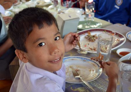 For many of the younger children it was their very first visit to a restaurant.