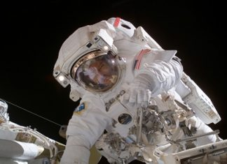 Astronaut Michael E. Lopez-Alegria, Expedition 14 commander and NASA space station science officer, participated in the final of three sessions of extravehicular activity (EVA) in nine days, Feb. 8, 2007, as construction continued on the International Space Station.