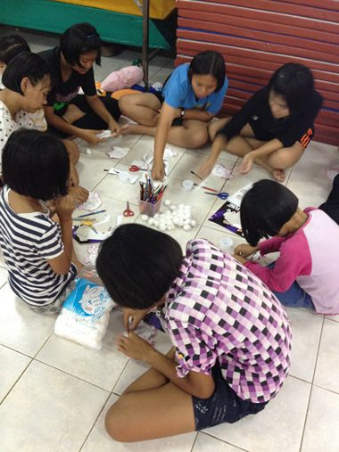 The children unleash their creativity through the art activities done on a weekly basis.