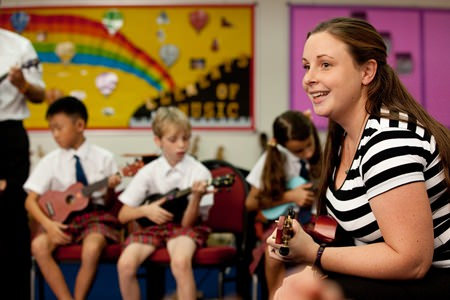 Primary School Music teacher Lucy Lewis is Regents' fully-authorised Kindermusik educator.