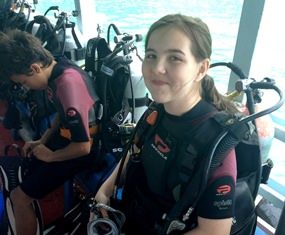 Two students pass their Advanced Open Water course.