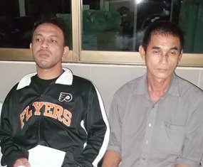 Sonthichai Srinuanthum (right) has been arrested for dealing drugs, whilst Jariya Polsaree (left) was booked on drug possession charges.