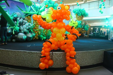 Thousands of balloons transformed Royal Garden Plaza into multi-colored playground earlier this month.