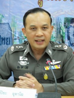 Royal Thai Police Spokesperson Police Major General Piya Uthayo.
