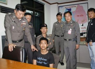 Prajak Masawang (seated) could face the death penalty for the gruesome murder of 2 young boys and their cousin / baby sitter.