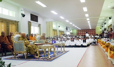 The hall was filled with people opening their hearts to the revered monk and his new Willpower Institute meditation center.