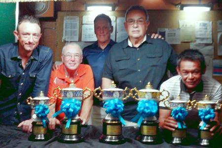 PGS Championship winners (left-right): Iain Wilson, Dave Plaiter, David Thomas (PGS Captain), John Chelo and Wichai Tananusorn.