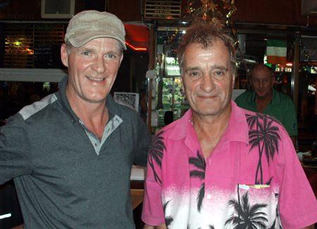 Dermott Flanagan (left) with Brian Wilkinson.
