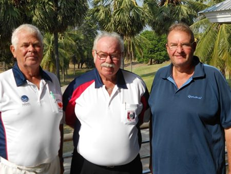 Elias Magnusson and Andre Vandyk with Dave Richardson.