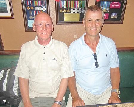 Richard Kubicki (right) with Graham Buckingham.