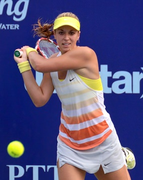 Sabine Lisicki struggled through her opening match against Donna Vekic.