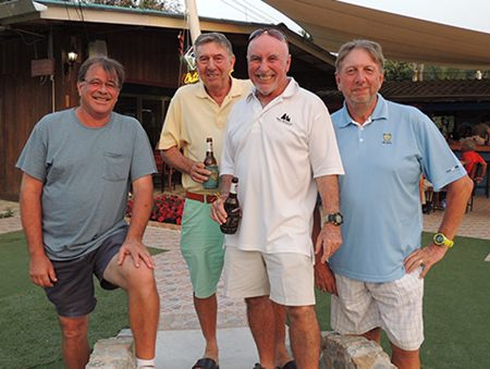 Bob Mattes with Eddy Beilby, Sugar Ray Handford and Peter LeNoury.