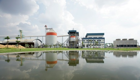 The Mungcharoen Biomass Project in Thailand is a biomass project that uses a rice husk fuelled combustion technique to generate electricity. The electricity generated powers two local rice mills and is also fed into the local power grid. The project converts rice husks, previously considered waste, into a valued commodity while at the same time reducing reliance on the combustion of carbon intensive fossil fuels.