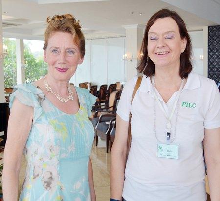 Regina Albrink (left) with PILC President Helle Rantsen.
