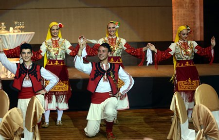 The Bulgarian Folk Ensemble put on a great show of traditional Balkan song & dance.