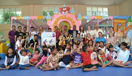 Hucky held a workshop at the Pattaya Orphanage touching the hearts of the children not only with his music but also with his love and care for them.