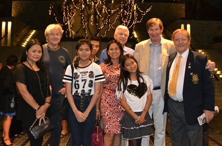 Jan Olav Aamlid (2nd right), MD of Pattaya Self Storage, the main sponsor of the charity concert together with his family and friends.
