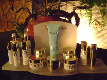 Margy's Monte-Carlo products used at Aisawan Spa.