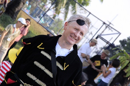 Principal Mike Walton enjoys the festivities.