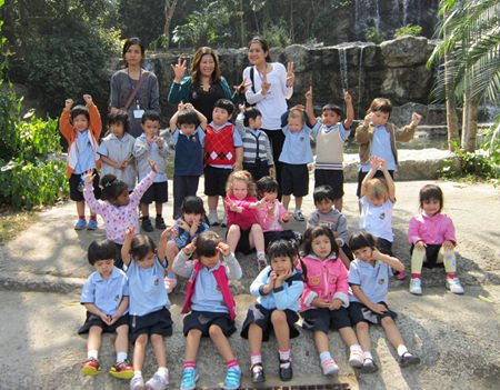 Nursery students had a great time at the zoo.