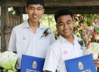 Ex, left, will go on to study Economics, while Leck will train to become a Physical Education teacher.
