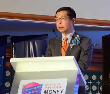 Dr. Prasan Trairatworakul, governor of Bank of Thailand, presides over the opening ceremony.