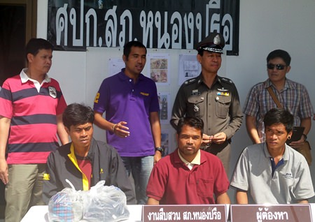 """Saen Nidchai, See Soklee, and """"Pom"""" have been arrested and charged with murder."""