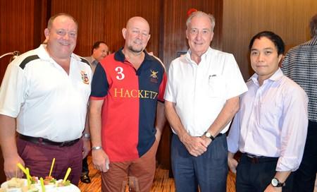 (L to R) Robert Cameron, Jim Telfurd, Dr. Iain Corness, and Neil Maniquiz.