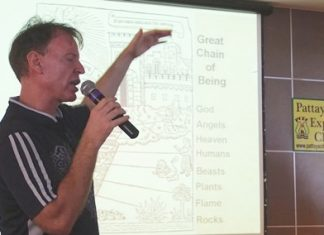 """Member Ren Lexander spoke at Pattaya City Expats Club meeting on Sunday, February 9, on the topic """"Legacy: Shaping Individuals and Civilisations."""""""