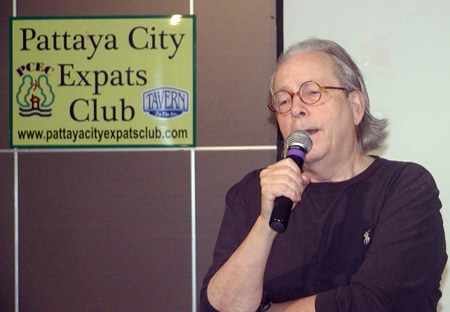 Prolific author, Jake Needham was speaker for Pattaya City Expats Club for the 2nd of February. Jakes eighth mystery, The Dead American, will be released in September this year.