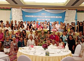 The Pattaya International Ladies Club 2014 governing committee and members.