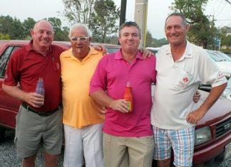 Scramble winners: Bob Philp, Greig Ritchie, Richard Steadman and Bill Marsden.