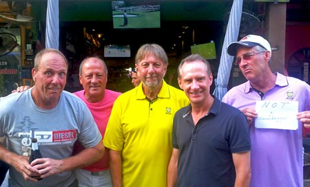 Barry Murnin, Ray Powell, Peter LeNoury, Bob Mulholland and Sonny Crawford.