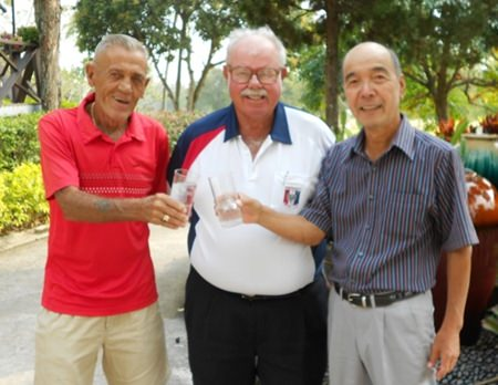 Jack Robertson and Mashi Kaneta with Dave Richardson.