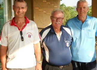 Richard Kubicki (left) with Dave Richardson and Gordon Clegg.