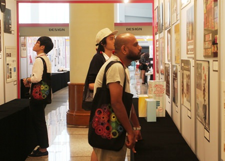 ADFEST 2014 delegates examining exhibits.