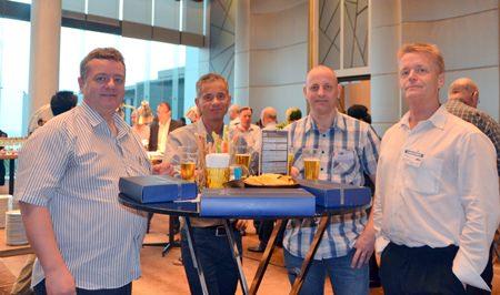 (L to R) Frank Henriksen, Managing Director of the DanThai Machinery Co., Ltd.; Lars Bohnsen, Sales Manager of the Ib Andresen Industri; Karsten Brammer, Technical Director of the DanThai Machinery Co., Ltd.; and Bjoern Hansen, CEO of the Ib Andresen Industri.