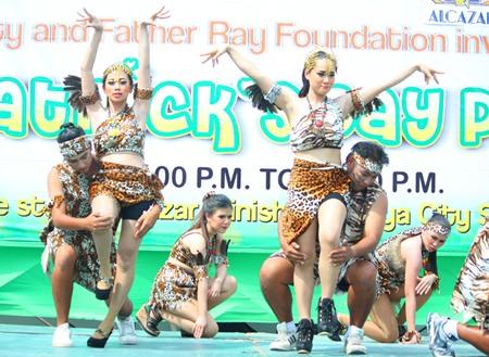 Centara Grand Mirage Beach Resort Pattaya staff perform their sexy jungle dance.