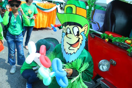 A wee Leprechaun was spotted at the parade.