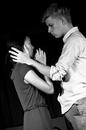 Regents students' impress peers with their IB Theatre performance.