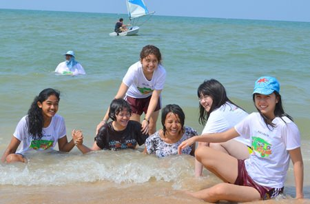 We enjoy swimming in the sea and we hope next year we would be here again.