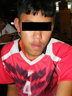 This 15-year-old was arrested for snatching a handbag from a Russian tourist in order to gain the 500 baht needed to enroll in training to become a footballer.